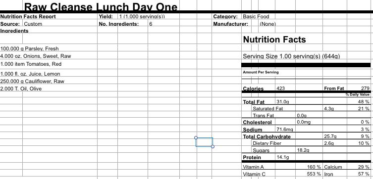 Day 1 Lunch Cauliflower Rice